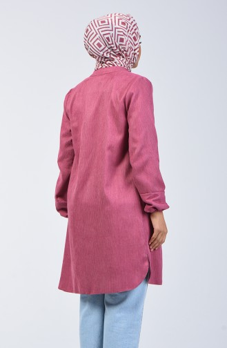 Elastic Corded Tunic 0270-01 Dusty Rose 0270-01