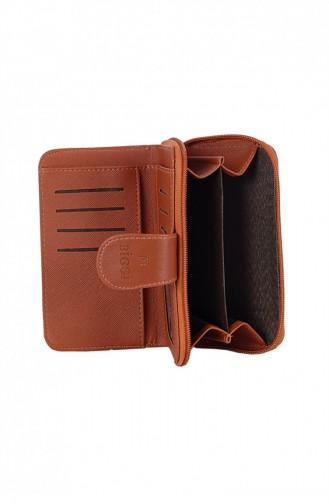 Biggi 0986 Tabak Geldtasche mit Reissverschluss 1009861431134