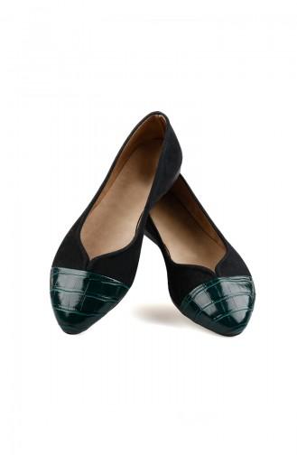 Woman Babet 0166-03 Black Green 0166-03