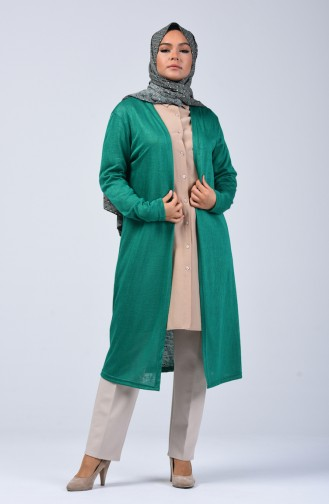 Long Cardigan Emerald Green 7520-18