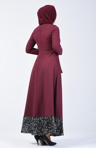 Payet Garnili Elbise 5125-01 Bordo 5125-01