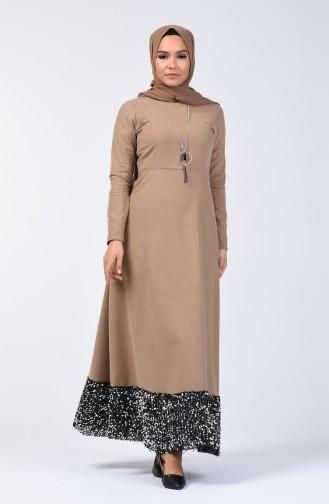 Payet Garnili Elbise 5125-03 Vizon 5125-03