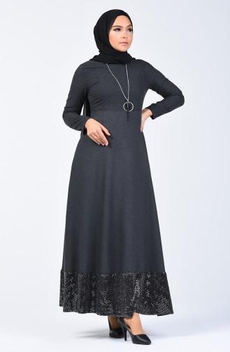Payet Garnili Elbise 5125A-01 Siyah 5125A-01