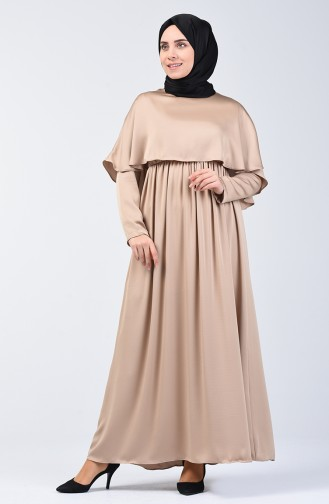 Dress with Cape 5127-03 Beige 5127-03
