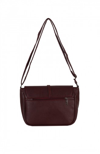 Zigga 02648 Violet Red Woman Faux Leather Shoulder Bag 1247589004157
