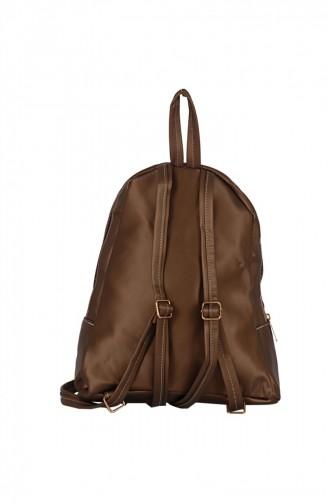 Zigga 02655 Bronze Woman Faux Leather Backpack 1247589004185