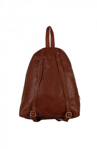 Zigga 02655 Tobacco Woman Faux Leather Backpack 1247589004187