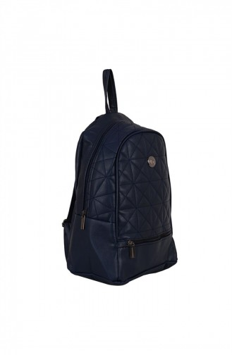 Zigga 02656 Navy Blue Woman Faux Leather Backpack 1247589004191