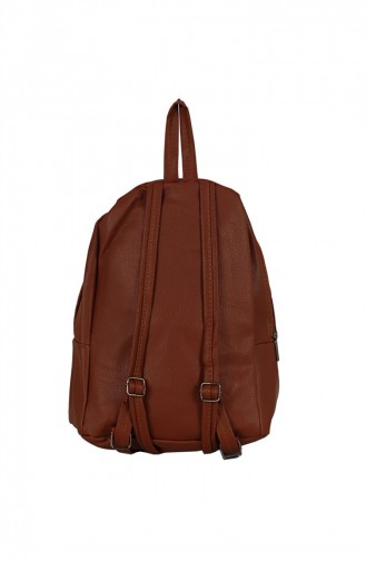Zigga 02656 Tobacco Woman Faux Leather Backpack 1247589004193
