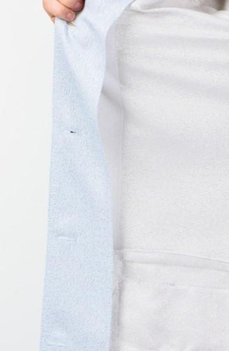 Perlen Jacke mit Quasten-detailliert 0853-01 Eisblau 0853-01
