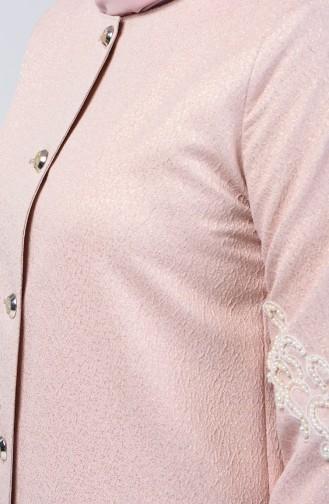 Perlen Jacke mit Quasten-detailliert 0853-03 Puder 0853-03