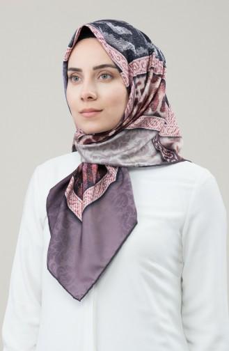 كاراجا وشاح نسيج حريري صناعي بني وبيج 90677-12