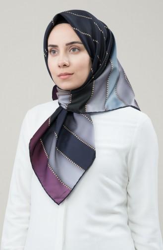 Karaca Sentetik İpek Twill Eşarp 90678-05 Siyah Vizon 90678-05