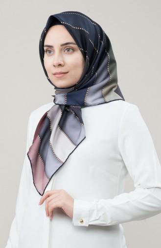 Karaca Sentetik İpek Twill Eşarp 90678-11 Gri Siyah 90678-11