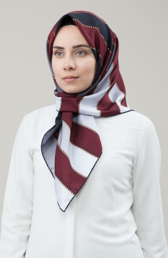 Karaca Sentetik İpek Twill Eşarp 90678-12 Bordo Füme 90678-12