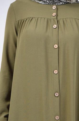 Düğmeli Aerobin Ferace 0065-08 Haki Yeşili
