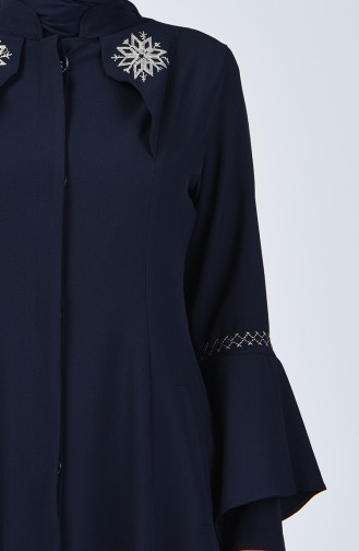 Spanish Sleeve Embroidered Topcoat 61315-02 Navy Blue 61315-02