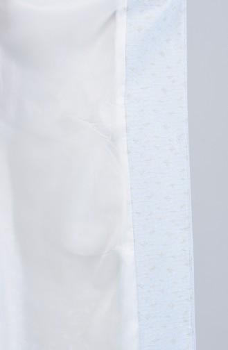 Büyük Beden Taş İşlemeli Pardesü 1903-01 Mavi 1903-01