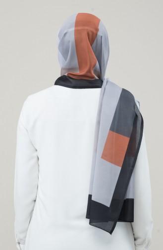 Patterned Cotton Shawl 95334-01 Grey 95334-01