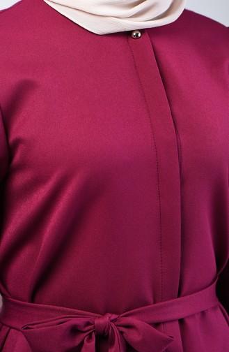 Kolu Taşlı Tunik Pantolon İkili Takım 0288-07 Mürdüm
