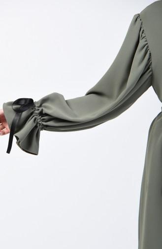 Gerafftes Kleid 0360-04 Khaki 0360-04