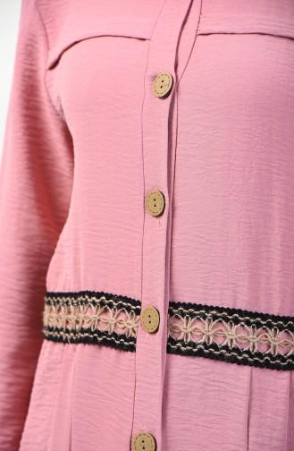 Aerobin Fabric Buttoned Tunic 1412-03 Powder 1412-03
