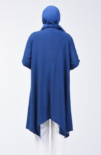 Asymmetric Tunic with Pocket 6050-06 Indigo 6050-06