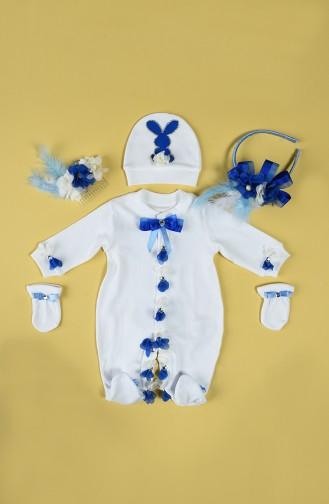 بدل الأطفال وحديثي الولادة أزرق 4