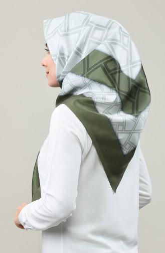 Digitally Printed Taffeta Scarf 95335-02 Khaki 95335-02