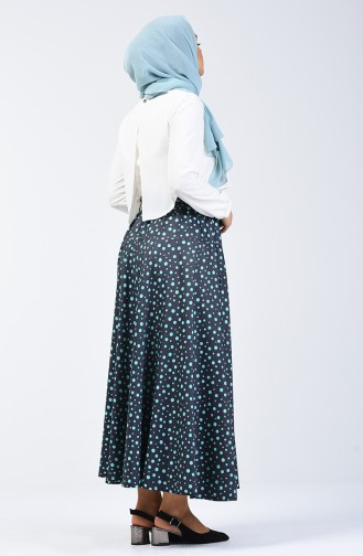 Polka Dot Skirt 1060-01 Navy Blue 1060-01