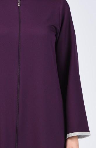 Zippered Abaya 0269-04 Purple 0269-04