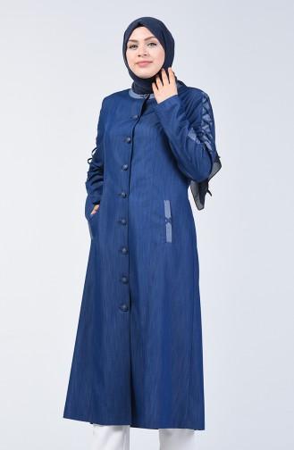 Grösse Grosse Hijab-Mantel  0839-01 Dunkelblau 0839-01