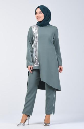 Garni Tunic Trousers 2 Piece 5533-02 Green Almond 5533-02