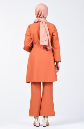 Kolu Taşlı Tunik Pantolon İkili Takım 0288-03 Taba 0288-03