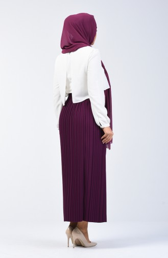 Pleated Skirt 0006-11 Purple 0006-11