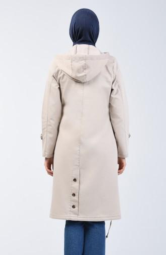 Hooded Sports Coat 6089-02 Beige 6089-02