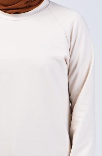 Ecru Sweatshirt 3151-02