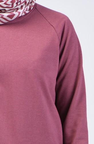 Reglan Kol Sweatshirt 3151-09 Gül Kurusu