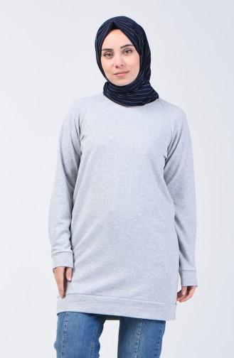 Reglan Kol Sweatshirt 3151-12 Açık Gri 3151-12