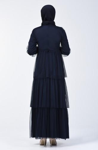 Tüll Abendkleid 6058-01 Dunkelblau 6058-01