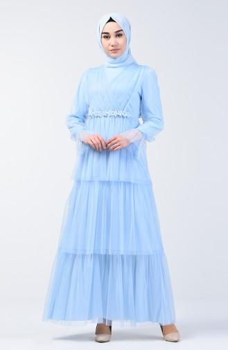 Tüll Abendkleid 6058-05 Babyblau 6058-05