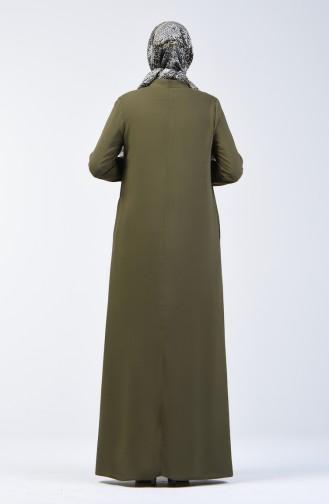 Khaki İslamitische Jurk 8188-06