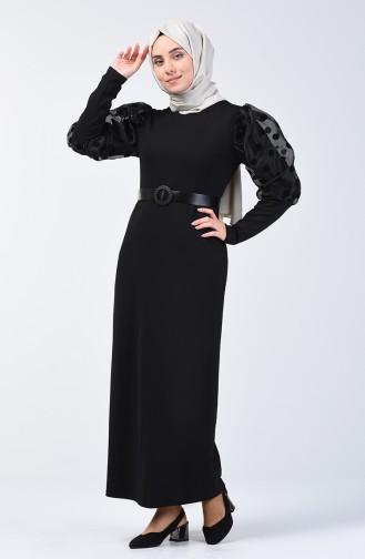 Black İslamitische Jurk 7063-01