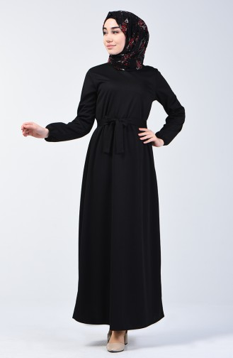 Elastic Belted Dress 2009-01 Black 2009-01