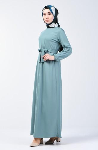 Robe Hijab Vert noisette 2009-05