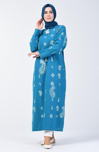 Longue Tunique 0404-05 Turquoise 0404-05