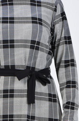 Plus Size Patterned Tunic 2001-04 Black 2001-04