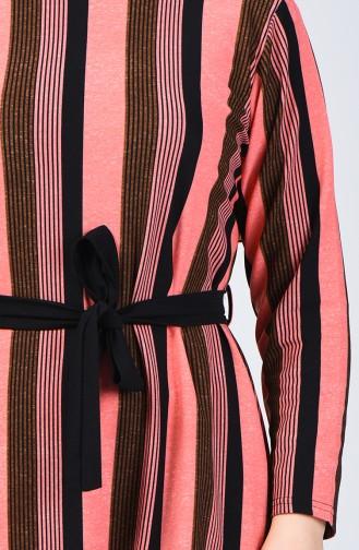 Büyük Beden Desenli Tunik 2001A-02 Yavruağzı