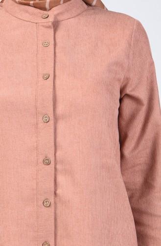 Elastic Corded Tunic 0270-07 Cinnamon 0270-07