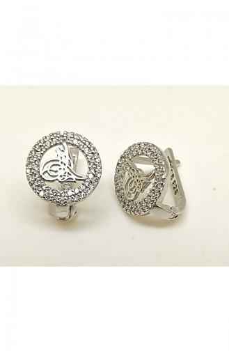 Bayan Gümüş Küpe BYNKP005 Rose 005
